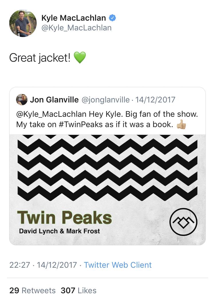 Kyle McLachlan Dale Cooper Twin Peaks