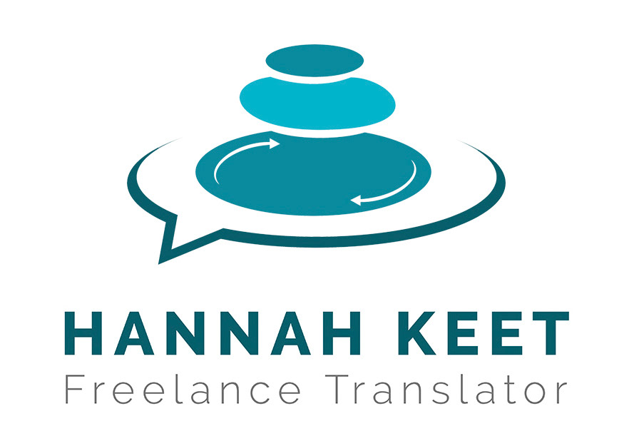 Logo design for Plymouth translator Hannah Keet. Made by Jon Glanville - Plymouth Graphic Designer.