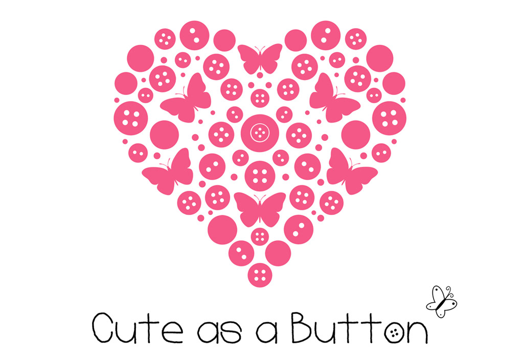 Logo design for Cute as a Button Bespoke Button Art. Made by Jon Glanville - Plymouth Graphic Designer.