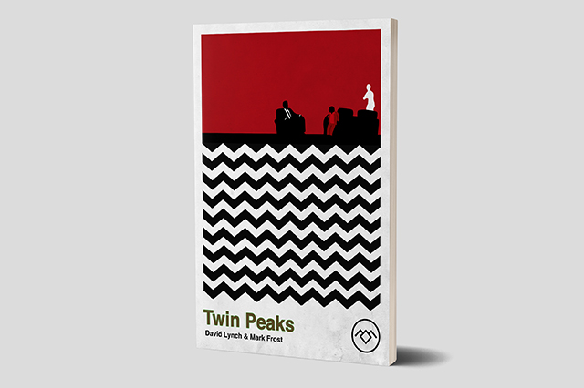 Book Cover Design Inspired by Twin Peaks featuring Kyle McLachlan a.k.a Dale Cooper.  Made by Jon Glanville - Plymouth Graphic Designer.
