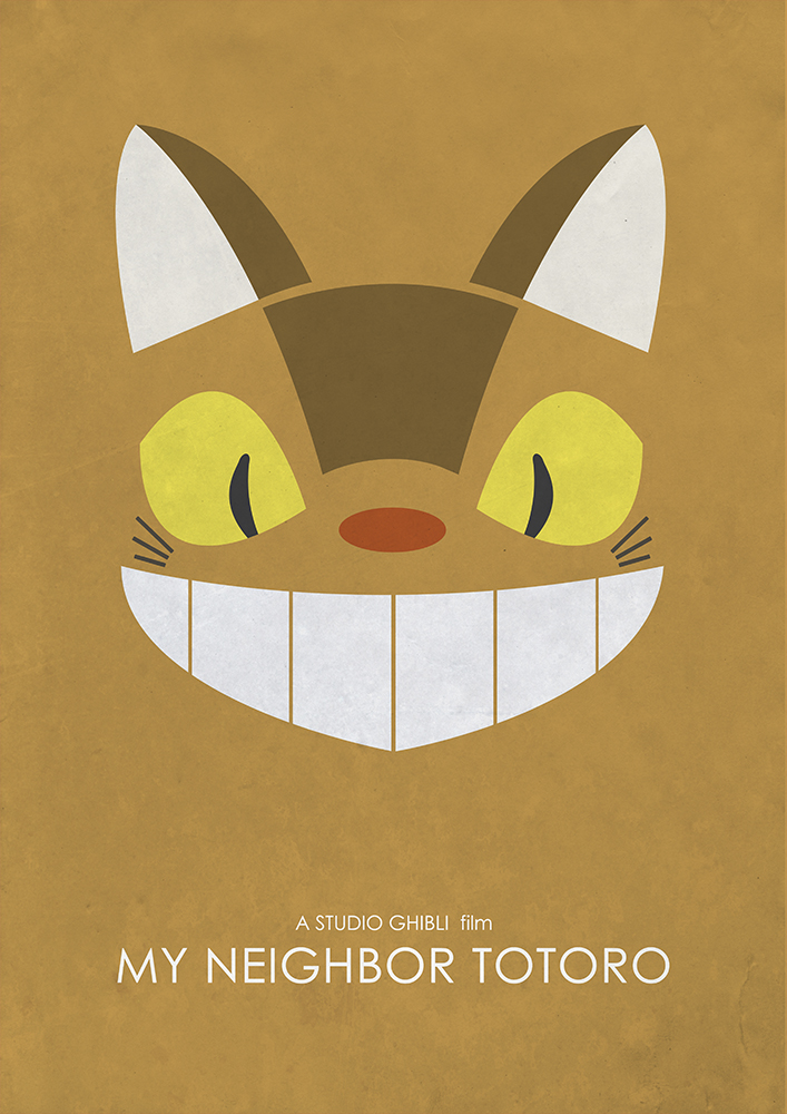 Alternative Studio Ghibli Movie Poster of My Neighbor Totoro featuring Catbus.