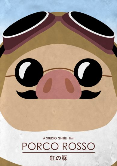 Alternative Studio Ghibli Movie Poster of Porco Rosso.