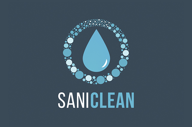 Logo Design for SaniClean.  Made by Jon Glanville - Plymouth Graphic Designer.
