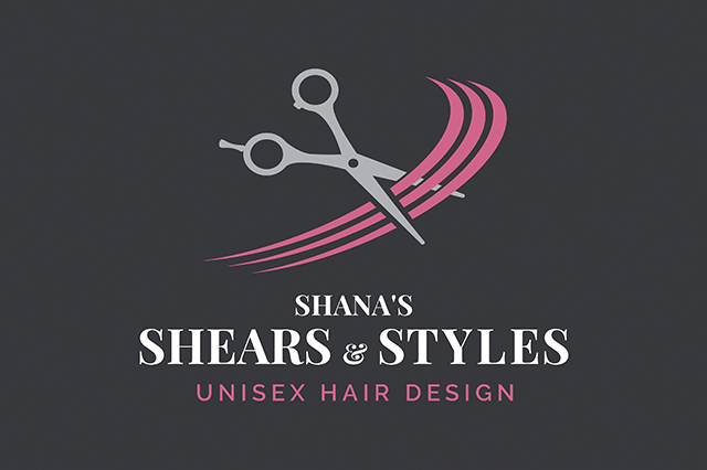 Business Card Design for Shana Sanders, Plymouth Hairdresser. Made by Jon Glanville - Plymouth Graphic Designer.